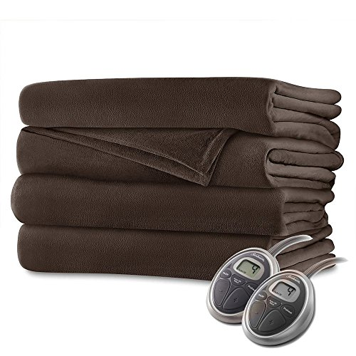 Sunbeam Velvet Plush Heated King Blanket