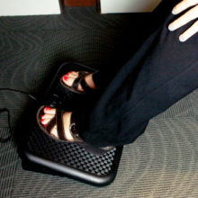 an under-desk heater