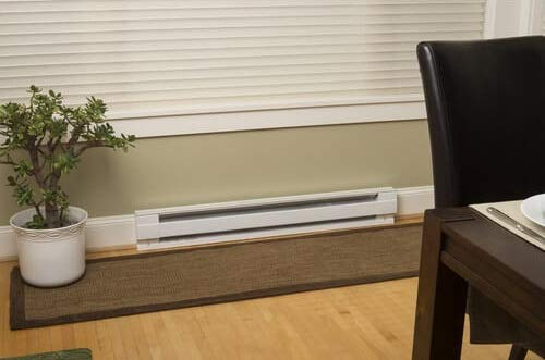 an electric baseboard heater