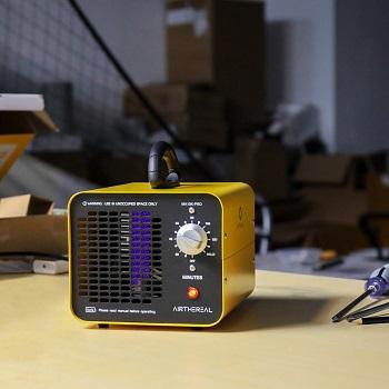 An ozone air purifier on a table