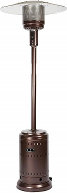 Fire Sense Hammer Tone Bronze Patio Heater
