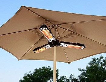 Hiland HLI-1P Electric ParasolUmbrella Patio Heater