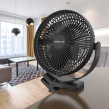 OPOLAR 10000mAh 8-Inch Rechargeable Battery Operated Clip on Fan, 4 Speeds Fast Air Circulating USB Fan