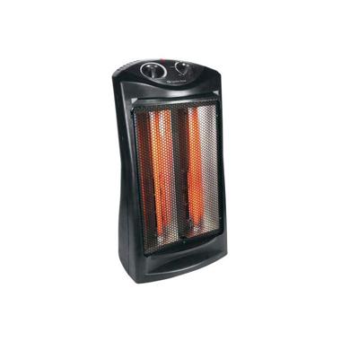 Comfort Zone CZQTV007BK Radiant Quartz Heater