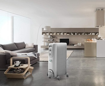 DeLonghi Oil-Filled Radiator Space Heater, Quiet 1500W