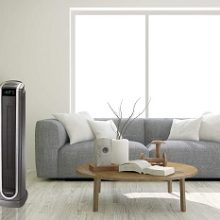 Lasko Ceramic Tower Space Heater with Logic Center Digital Remote Control-Features Built-in Timer and Oscillation